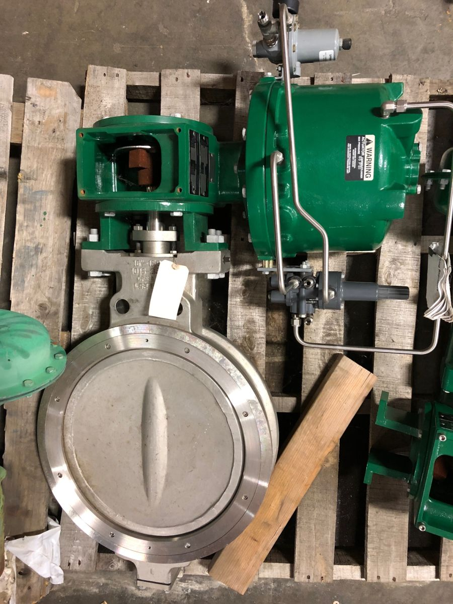Fisher 8532 Butterfly Valve 16in Class 150 W/ Actuator