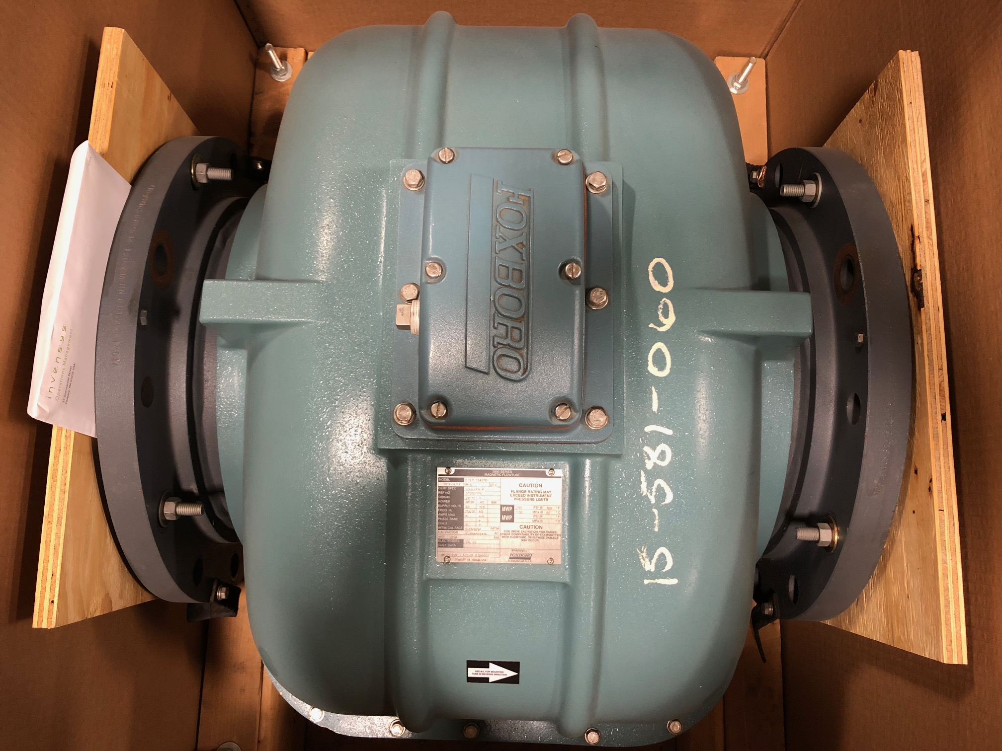 Foxboro 2814-SEBA-TSM-G 14in. CL150 Magnetic Flowmeter