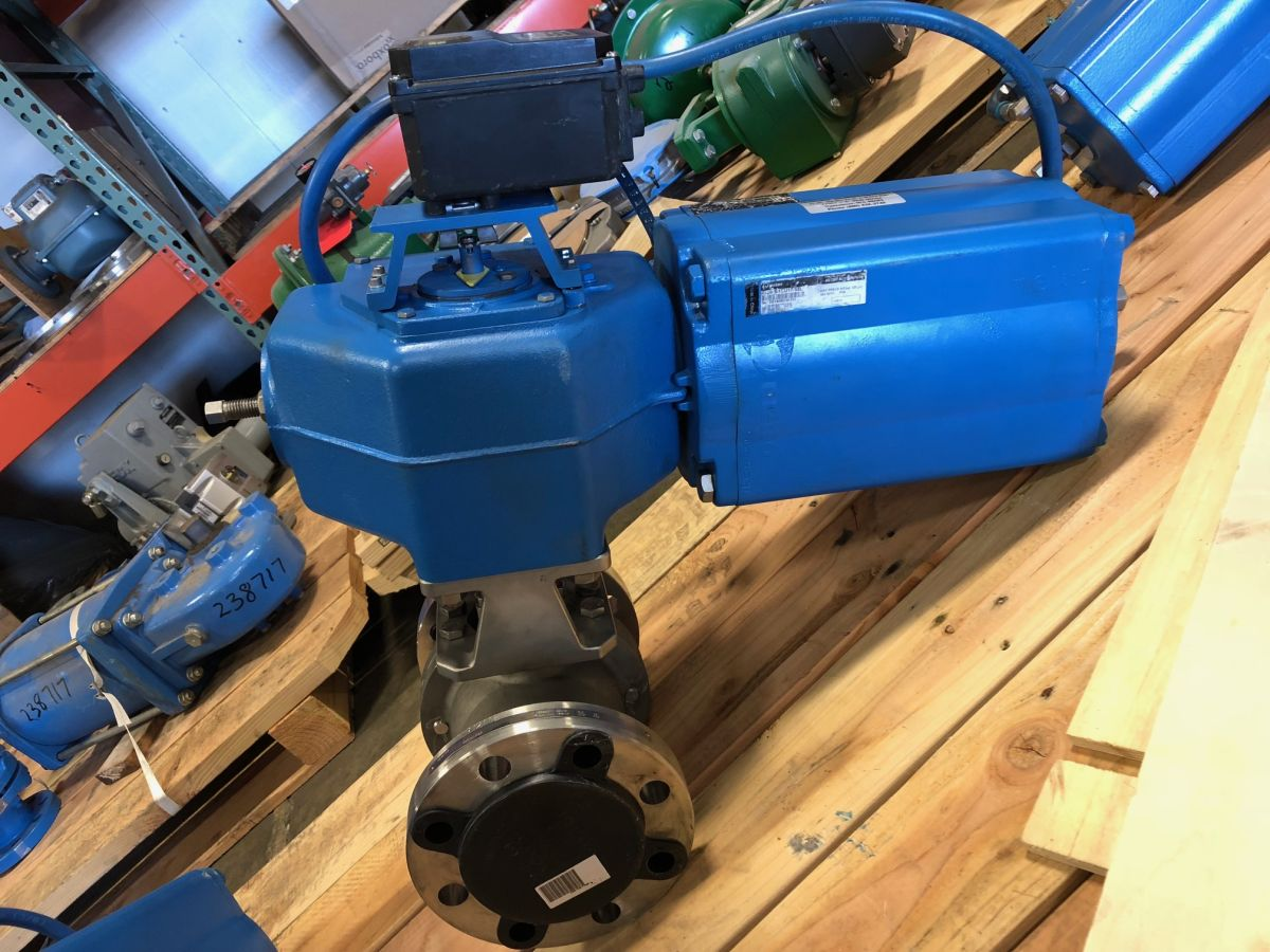 Neles Ball Valve 3in Class 300 M2DA03SP W/ Actuator And Positioner