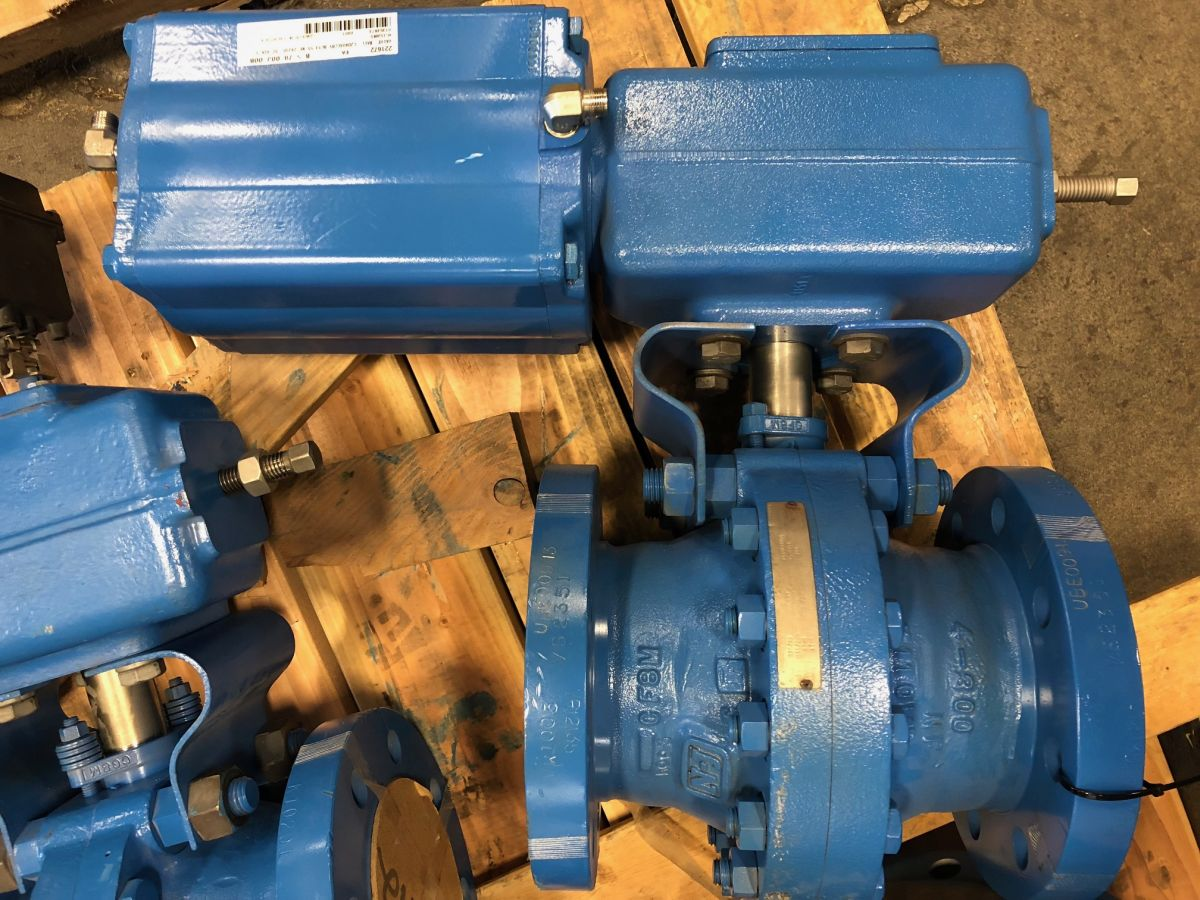 Neles Ball Valve 4in Class 300 PDA04AKK01  W/ Actuator