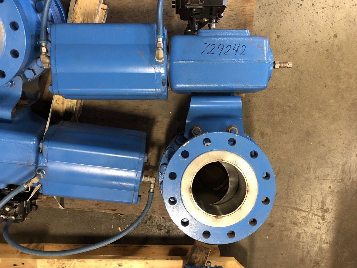 Neles Ball Valve 6in Class 300 PDA06CCY016  W/ Actuator And Positioner
