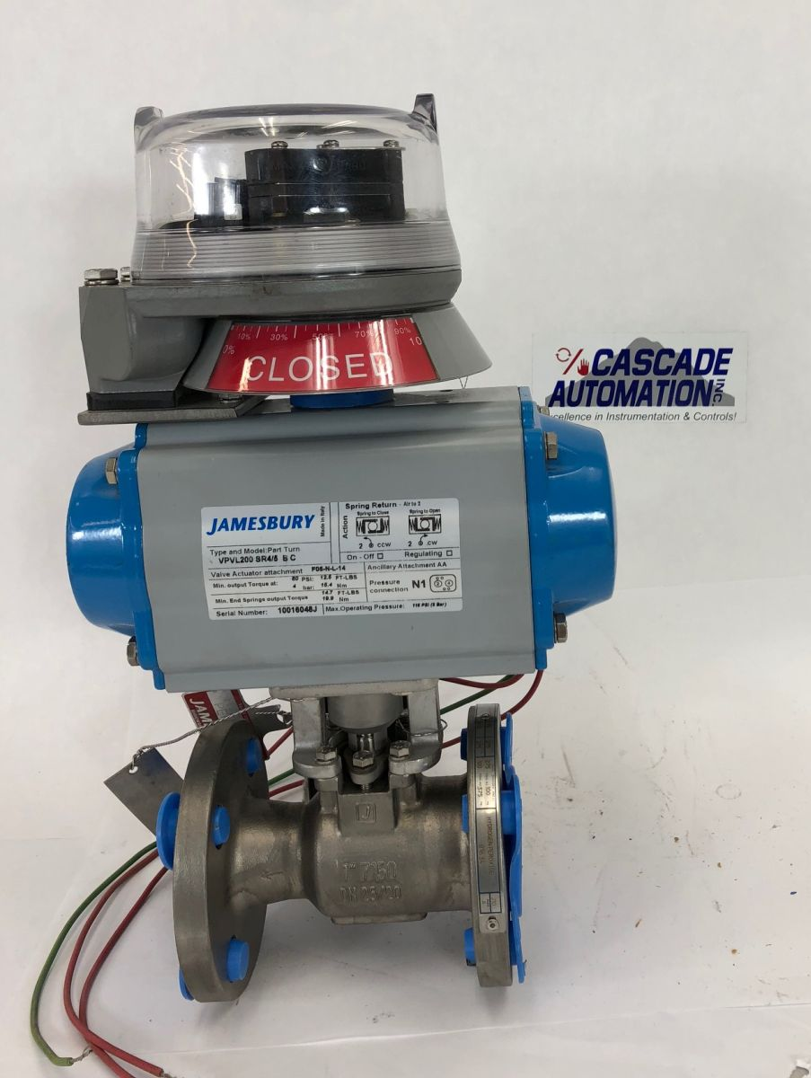 Jamesbury 1in Class 150 Ball Valve 7150P1113600TTT2 W/ Actuator And Positioner