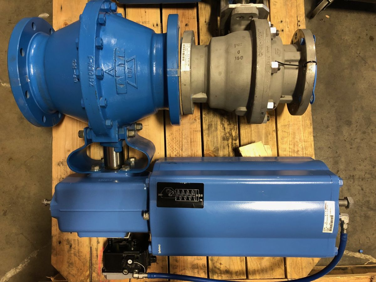 KAMYR Ball Valve 8in Class 150 PCA08TTT01 W/ Actuator And Positioner
