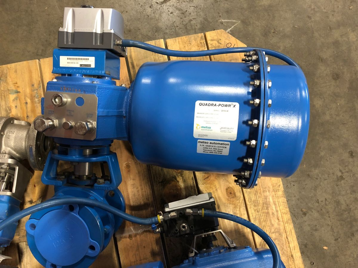 Neles Ball Valve 3in Class 150 MT0300CAGAS6SJKTTB/Q W/ Actuator And Positioner