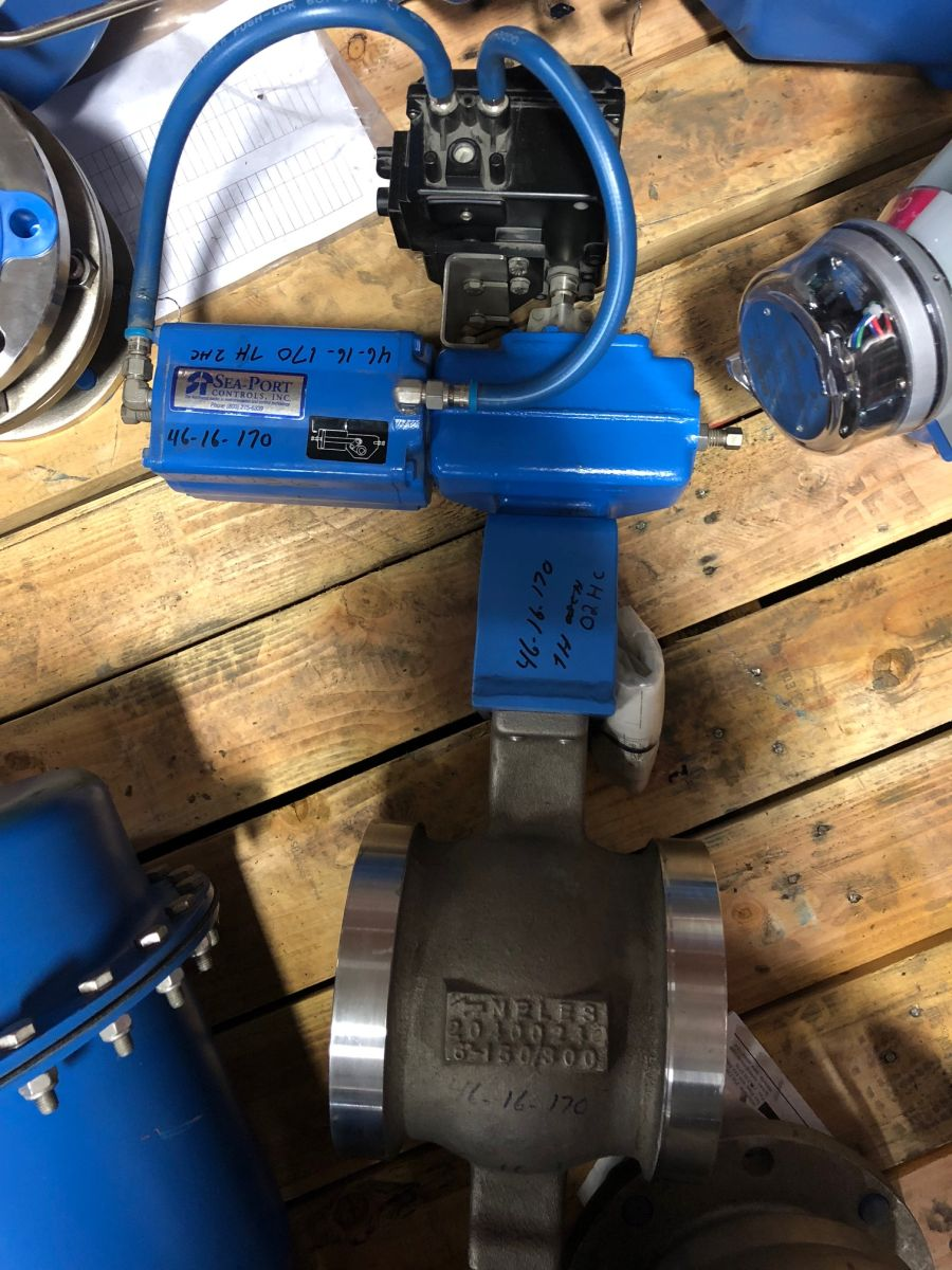 Neles Ball Valve 6in Class 150 R11LA06CCJDV W/ Actuator And Positioner