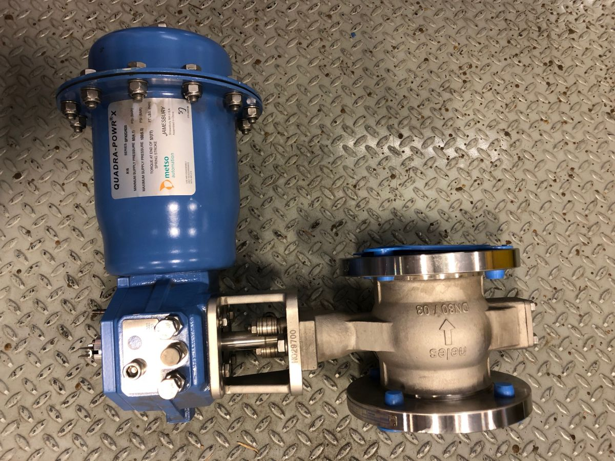 Neles Ball Valve 3in Class 150 RECA03CJJST W/ Actuator