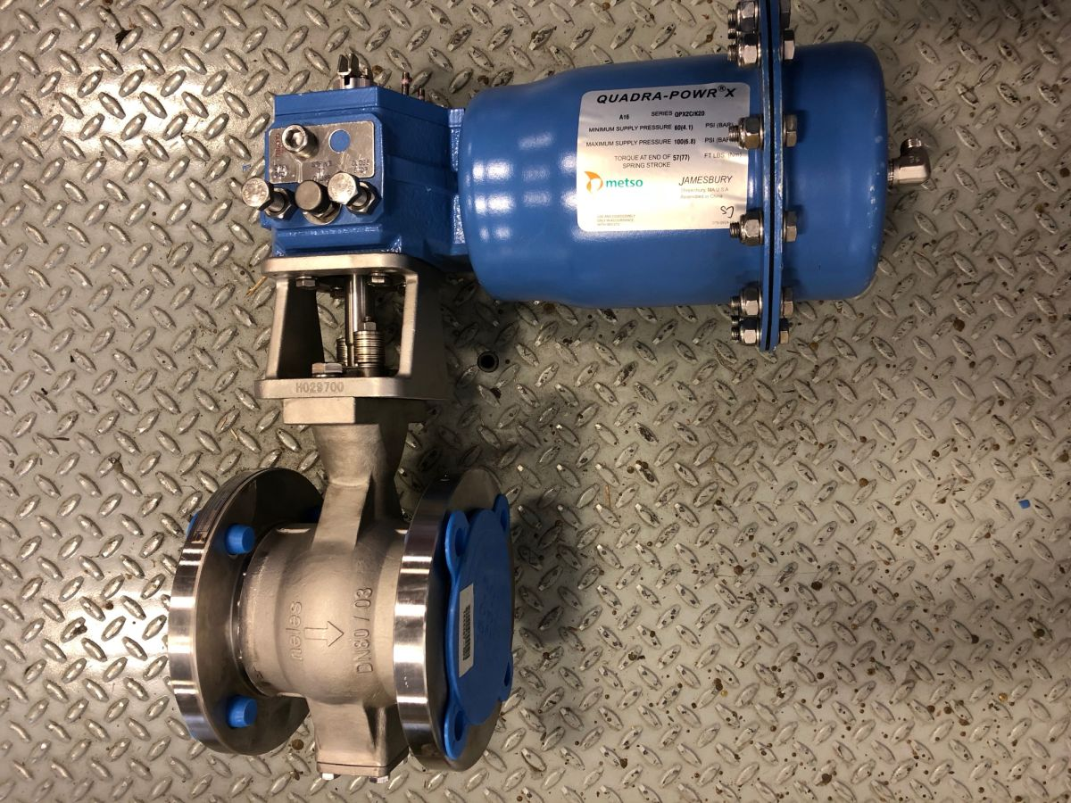 Neles Ball Valve 3in Class 150 Q-RECA03CJJST W/ Actuator