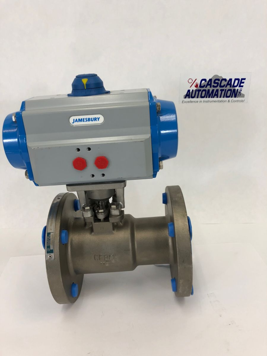Jamesbury 2in Class 150 Ball Valve 7150313600XTZ2 W/ Actuator