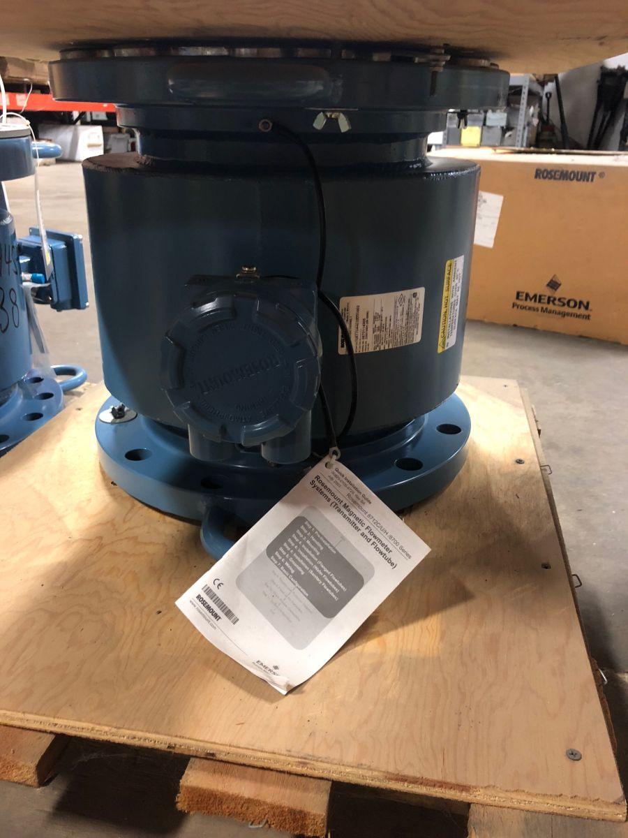 Rosemount 8707APA100C1W0N0L1 10in. CL150 Magnetic Flowmeter
