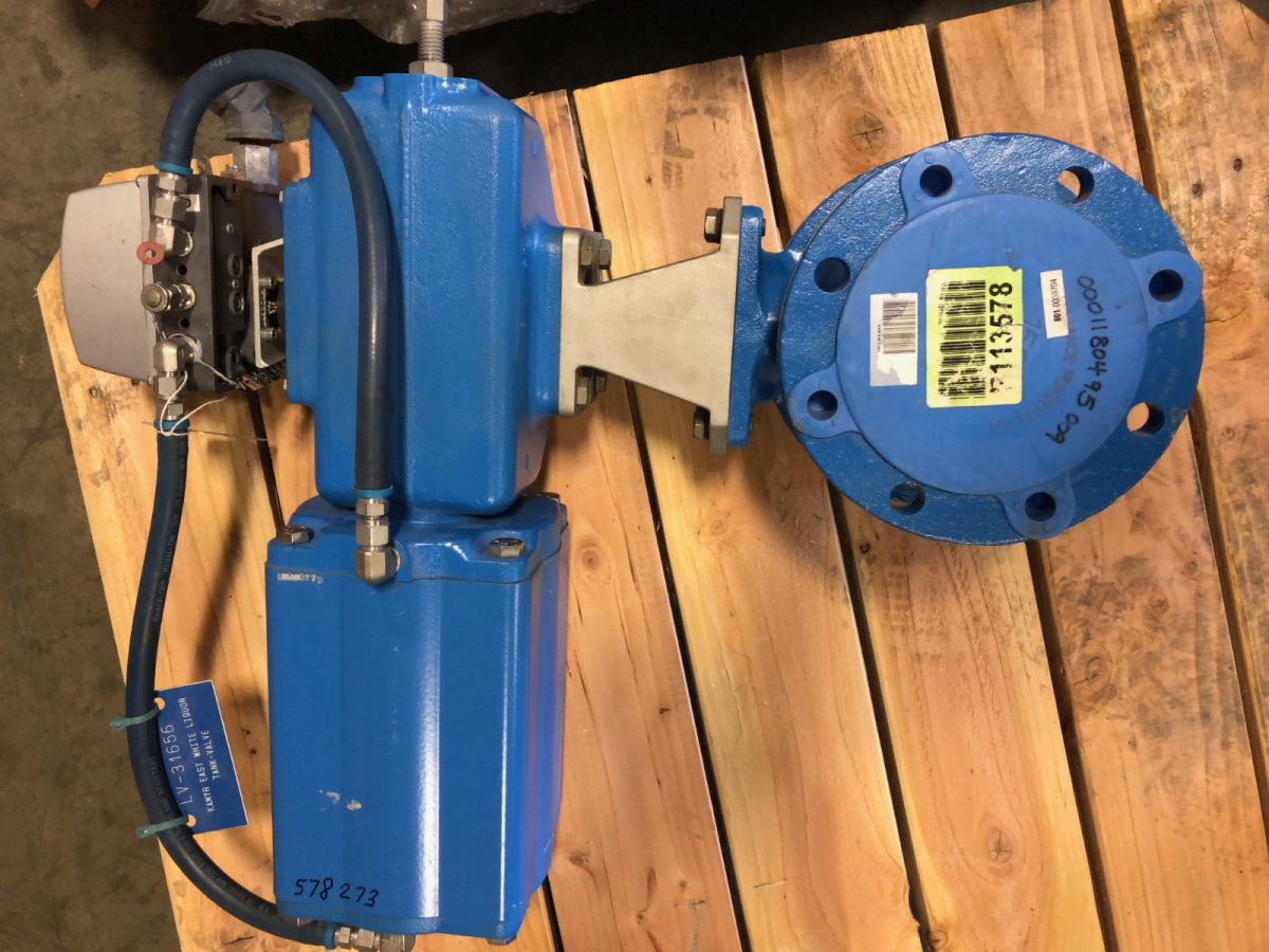 Neles Ball Valve 4in Class 150 M2CA04AP W/ Actuator And Positioner